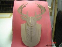 Hirschkopf 3D Modell1