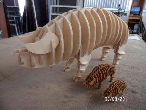 Schweine 3D Modell