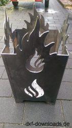 Feuerstelle mit Flammen