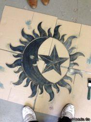 Sonne Mond Sterne Bild