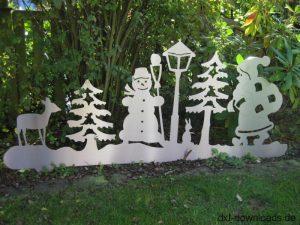 Grosses Weihnachtsbild Blechzuschnitt