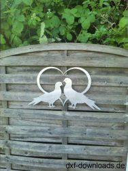 Herz mit 2 Tauben
