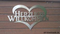 Herz mit Herzlich Willkommen1