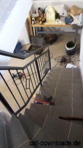 Treppengelaender RAL7016