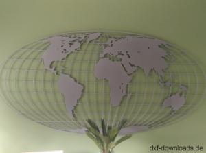 Weltkarte mit Gitter
