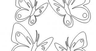 4 Schmetterlinge - 4 Butterfly