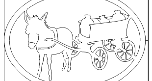 Esel zieht Wagen Bild - Donkey pulls car image
