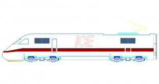ICE Schnell - Zug - ICE fast - train