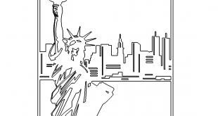 Bild Freiheitsstatue Skyline New York - Statue of Liberty New York Skyline