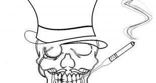 Gambler Zockender Totenkopf - Gambler Skull