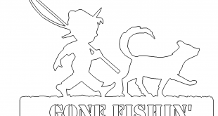 GONE FISHIN Angeln Hund Fischen - Gone Fishin Fishing Dog Fishing