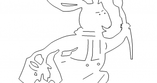 Hase mit Pinsel - Rabbit with paintbrush