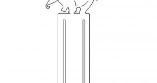 Lesezeichen Elefant - Bookmark Elephant