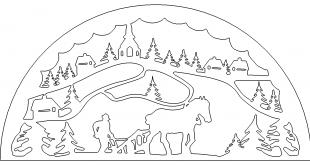 Schwippbogen mit Pferd
