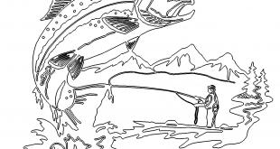 Angler Bild mit großem Fisch - Fisherman image with a large fish