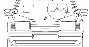 Auto Mercedes Benz vorne - Car Mercedes Benz front
