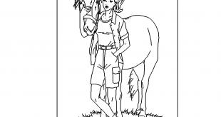 Kind mit Pferd - Child with Horse