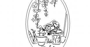 Katze im Garten - Cat in the Garden