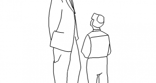 Vater mit Kind - Father with child