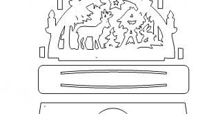Schwibbogen zum Stecken - Candle arch for plugging