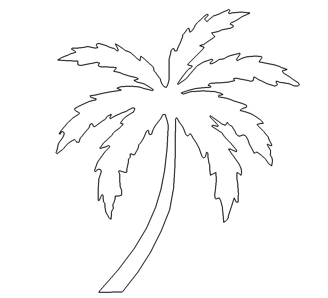 einfache palme  simple palm  das download portal für dxf