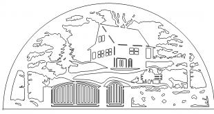 Schwibbogen mit Haus