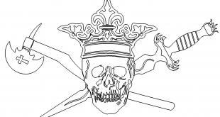 Totenkopf mit Krone - Skull with crown