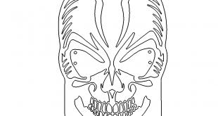 Totenkopf Bild - Skull Black