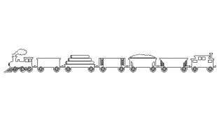 Langer Güterzug - long freight train