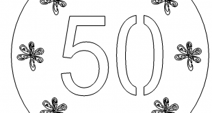Zum Geburtstag 50 - Happy Birthday 50
