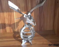 Adler Edelstahl 3D Modell
