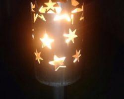 Fackel mit Sternen