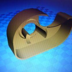 Tesafilm Halter 3D Drucker File
