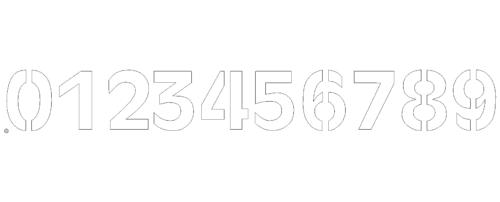 Laserfähige Schneidfertige Zahlen 0-9 mit Stege