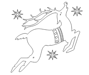 Springender Hirsch - Jumping Deer