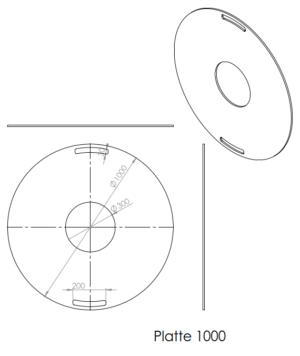 1000mm Feuerplatte Grillring Grillplatte Plancha für Stahlfässer Öltonnen Stahltonnen oder große Kugelgrills