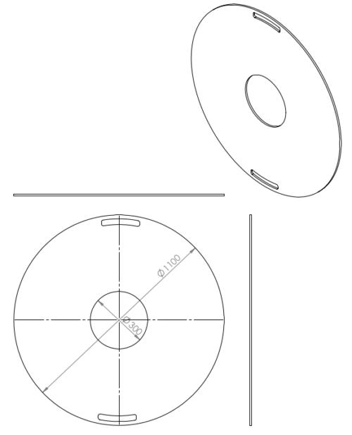 1100mm Feuerplatte Grillring Grillplatte Plancha für Stahlfässer Öltonnen Stahltonnen oder große Kugelgrills