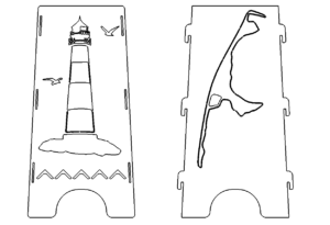 Feuerstelle Leuchtturm Sylt