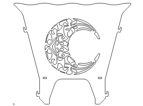 Feuerstelle Mond - Fireplace Moon