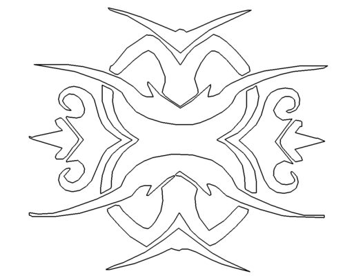 Tribal - Tattoo- Vorlage - Template