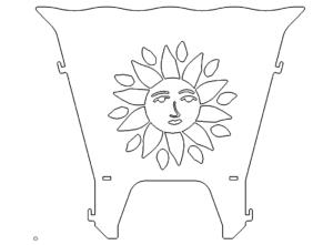Feuerstelle Sonne - Fireplace sSun