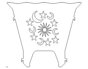 Feuerkorb Sonne Mond Sterne - Fireplace Sun Moon Stars