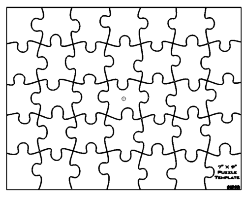 Puzzle Vorlage 7 x 9 - Puzzle template 7 x 9