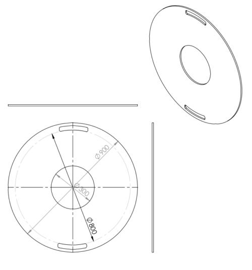 900mm Feuerplatte Grillring Grillplatte Plancha für Stahlfässer Öltonnen Stahltonnen oder große Kugelgrills