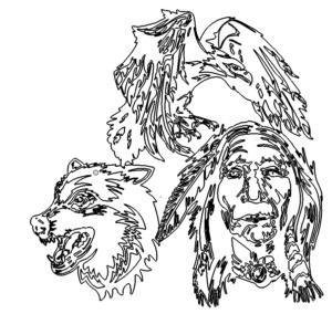 Adler Indianer Wolf - Eagle Indianer Wolf