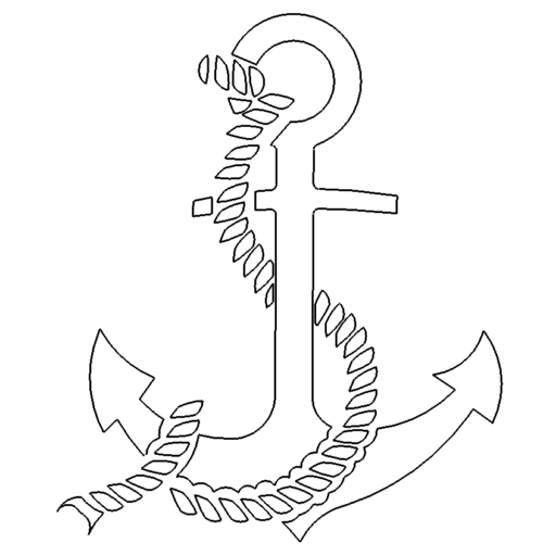 Anker mit Tau - Anchor