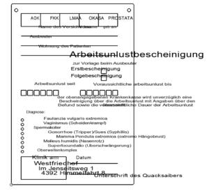 Arbeitsunlust - Bescheinigung - Disinclination to work - certificate