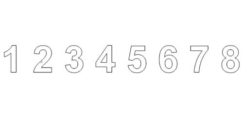 Zahlen / Hausnummer 1 - 8 - Numbers / Number 1-8