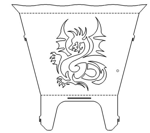 Feuerkorb Drachen - Fireplace Dragon