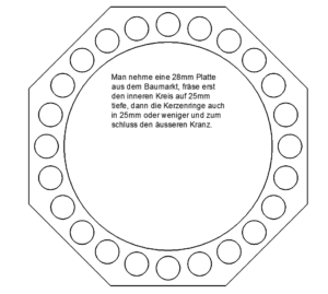 Adventsstern Achteck Teelichthalter groß - Advent star octagon tealight holder large